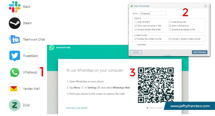 Seting Whatsapp Rambox