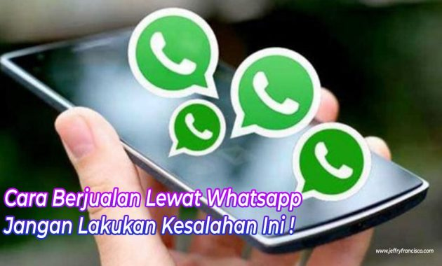 Jualan Lewat Whatsapp