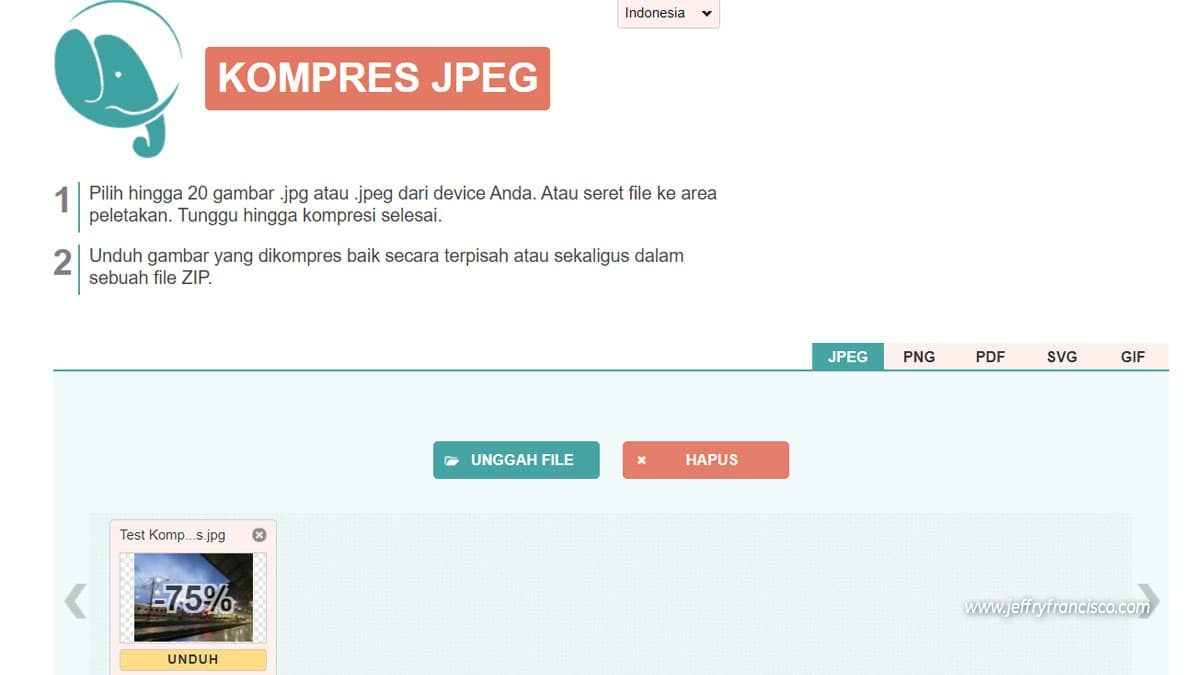 Kompres Foto JPG PNG